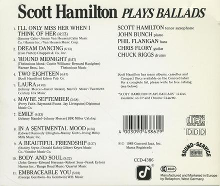 Plays ballads