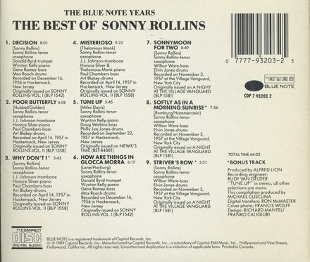The best of...the blue note years