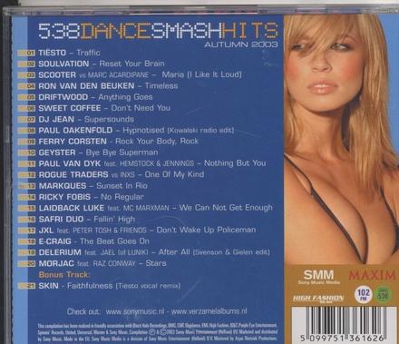 Radio 538 dance smash hits : autumn 2003