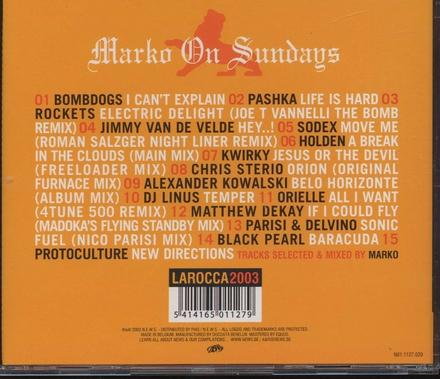 La Rocca : Marko on sundays 2003