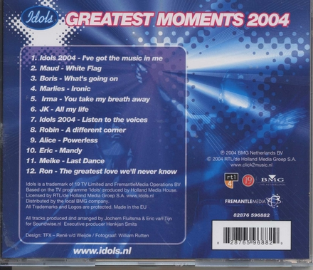Idols : greatest moments 2004