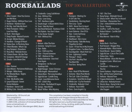 Rock ballads : Top 100 allertijden