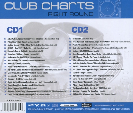 Club charts right round