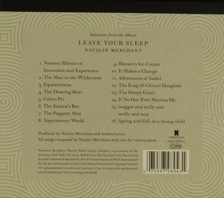Selections from the album Leave your sleep