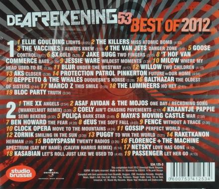 De afrekening van Studio Brussel. 53, Best of 2012