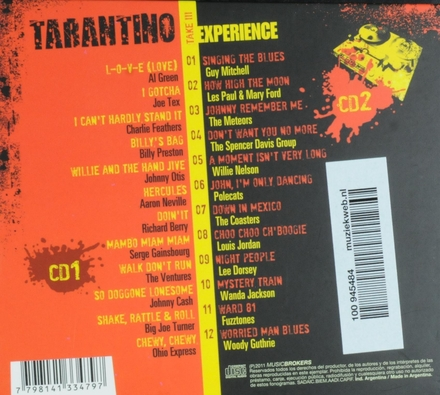 Tarantino experience take III : the ultimate tribute to Quentin Tarantino : music from and inspired by his films