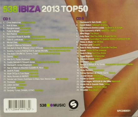 Radio 538 Ibiza 2013 top 50