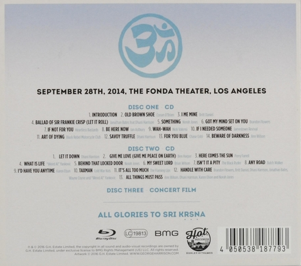 George fest : a night to celebrate the music of George Harrison : September 28th 2014 The Fonda Theater Los Angeles