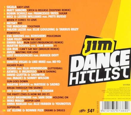 Jim dance hitlist 2015. 3