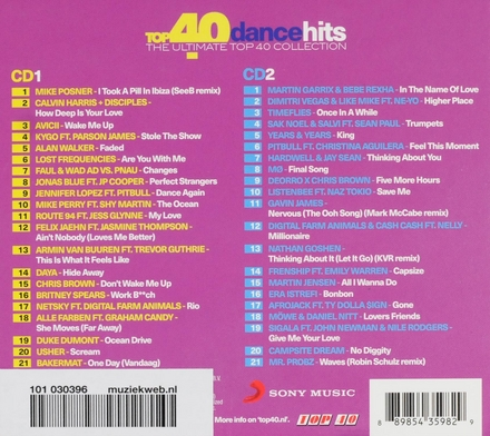 Top 40 dance hits : the ultimate top 40 collection