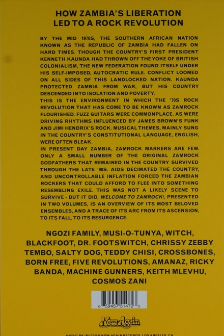 Welcome to Zamrock! : how Zambia's liberation led to a rock revolution : 1972-1977. Vol. 1