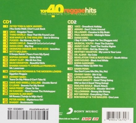Top 40 reggae hits : The ultimate top 40 collection
