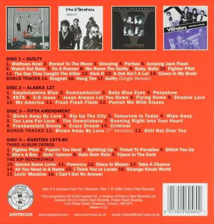 Guilty ; Alaska 127 ; Fifth amendment ; Rarities 1979-80