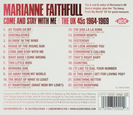 Come and stay with me : the UK 45s 1964-1969