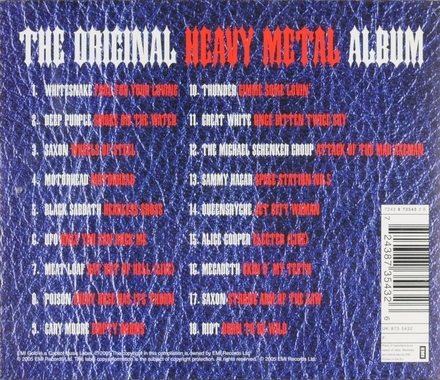 The original heavy metal album : 18 essential head bangin' hits