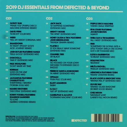 Defected presents : Most rated 2019