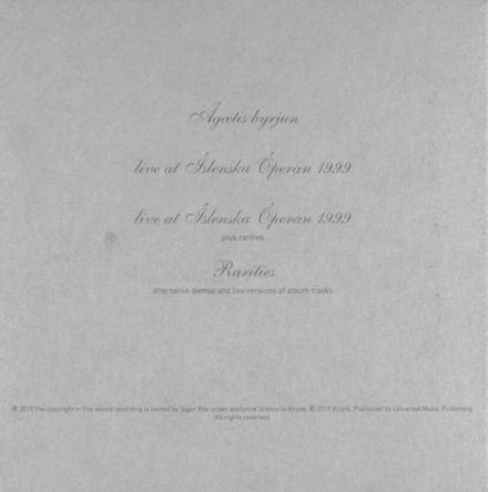 Agaetis byrjun : a new beginning : 20th anniversary edition