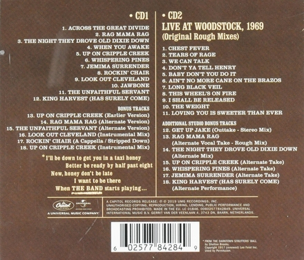 The Band ; Live at Woodstock 1969