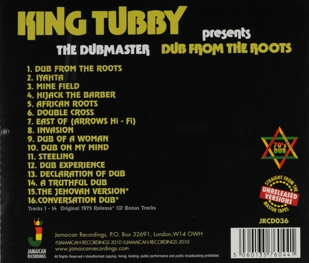 King Tubby presents Dub from the roots