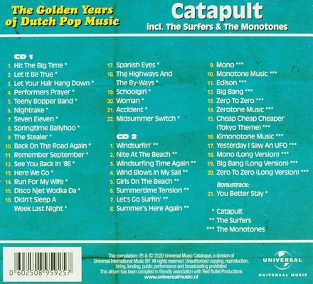 Catapult incl. The Surfers & The Monotones : A & B sides and more