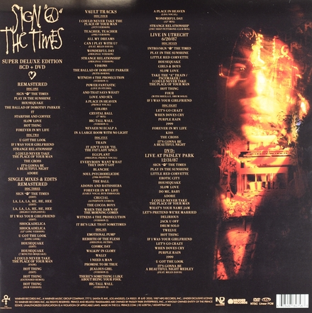 Sign 'o' the times [9 disc edition]