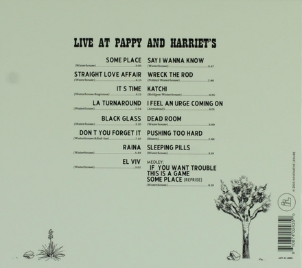 Live at Pappy and Harriet's : in person from the high desert