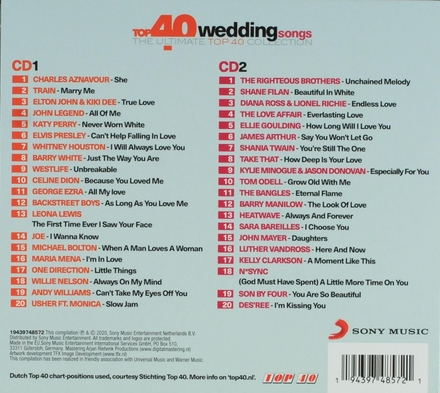 Top 40 wedding songs : the ultimate top 40 collection