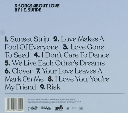 9 songs about love