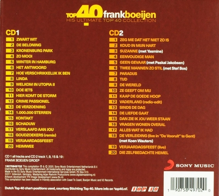 Top 40 Frank Boeijen : his ultimate top 40 collection