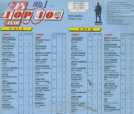 25 Jaar top 40 hits. Vol. 1, 1965/68