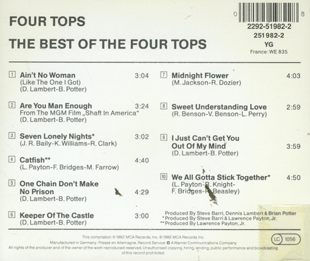 The best of the four tops 1972-76