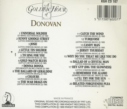A golden hour of Donovan