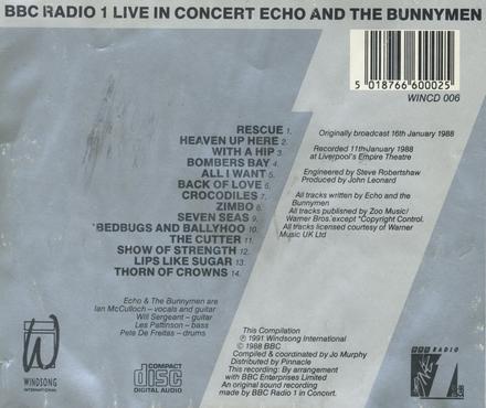 BBC radio 1 - live in concert