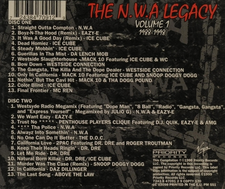 The N.W.A Legacy. vol.1 : 1988-1998