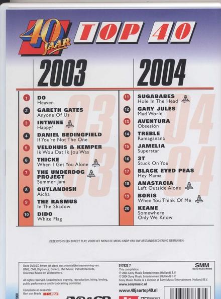 40 Jaar Top 40 : 2003-2004