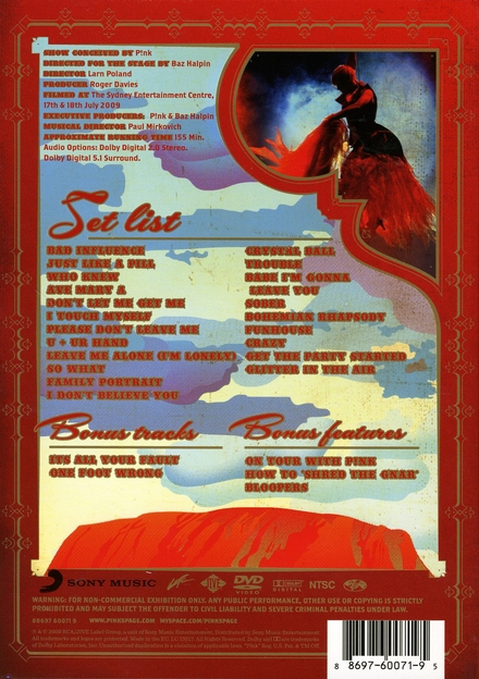 Funhouse tour : live in Australia