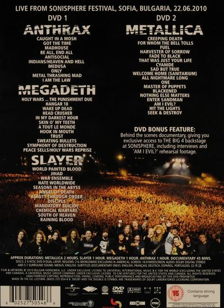 The big 4 : live from Sonisphere festival, Sofia, Bulgaria
