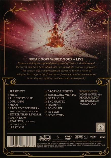 World tour live : Speak now