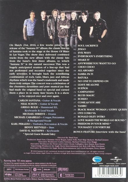 Santana IV : LIve at the House Of Blues Las Vegas