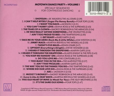 Motown dance party. vol.1