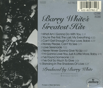 Barry White's greatest hits