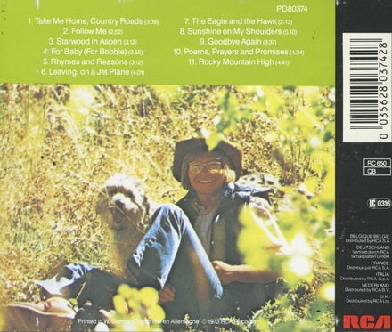 John Denver's greatest hits. vol.1