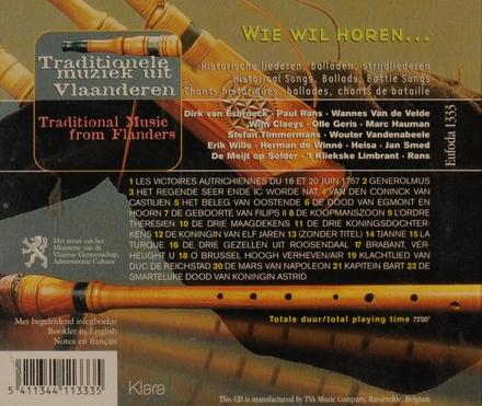 Wie wil horen... : traditionele muziek uit Vlaanderen