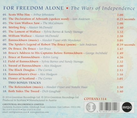 For freedom alone : the wars of independence : commemorating the 700th anniversary of Bannockburn