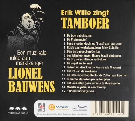 Erik Wille zingt Tamboer : een muzikale hulde aan marktzanger Lionel Bauwens