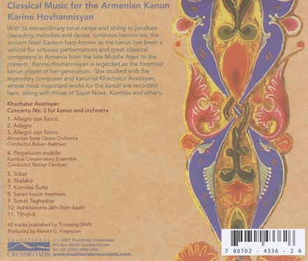 Classical music for the Armenian Kanun