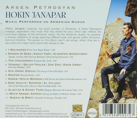 Hokin janapar : music performed on Armenian duduk