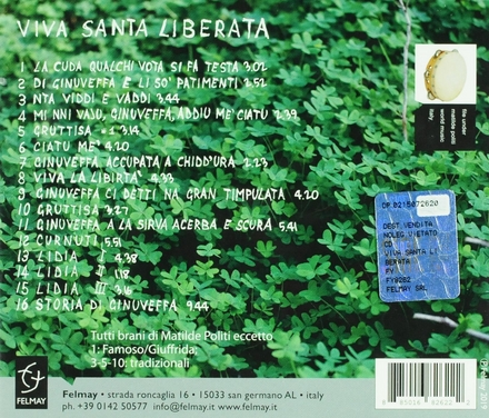 Viva Santa Liberata : Sicilian women folksongs