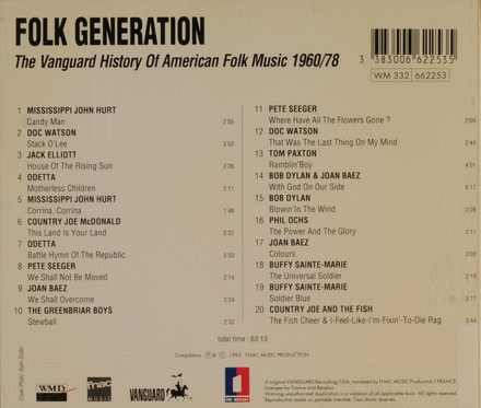 Folk generation - vanguard 1960/78