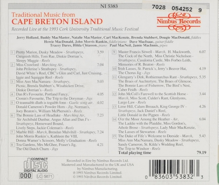 Traditional music from Cape Brenton Island